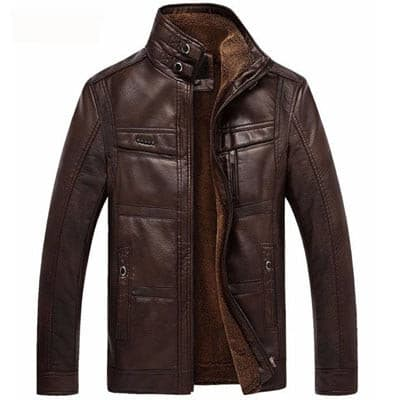 Mountainskin Leather Jacket Men Coats 5XL Brand High Quality PU Outerwear Men Business Winter Faux Fur Male Jacket