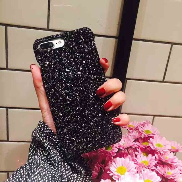 Sequins Hard Coque for iPhone X 8 7 6 XS MAX Color Back Cover