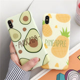 LOVECOM Cartoon Fruit Avocado Phone Case For iPhone 11 Pro Max XR X XS Max 7 8 6 Plus Case Full Body Soft IMD Phone Cover Bags