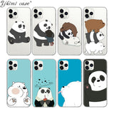 Phone Case We Bare Bears Panda Cute Coque For Iphone 5 Se 6 S 7 8 Plus X S MAX XR 11 PRO MAX Case Soft Silicone TPU Funda