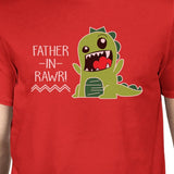 Father-In-Rawr Funny T-Shirt Gifts For Dad Men's