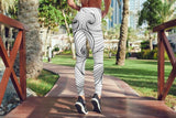 Pattern White Leggings For Women Yoga Pants Party
