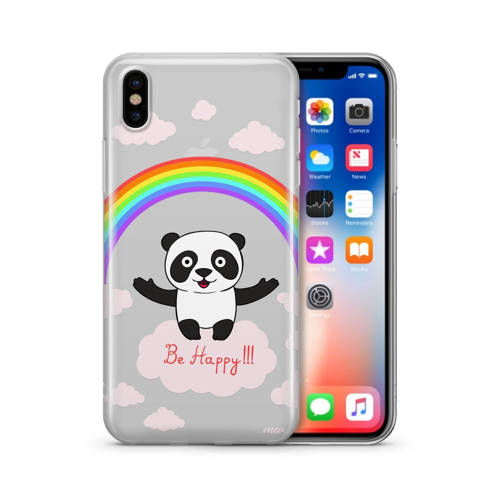 Iphone Be Happy' - Clear Case Cover