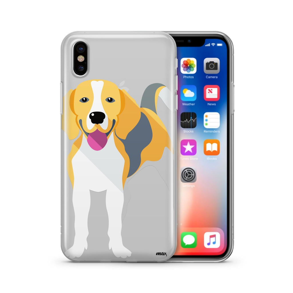 Iphone Beagle - Clear TPU Case Cover
