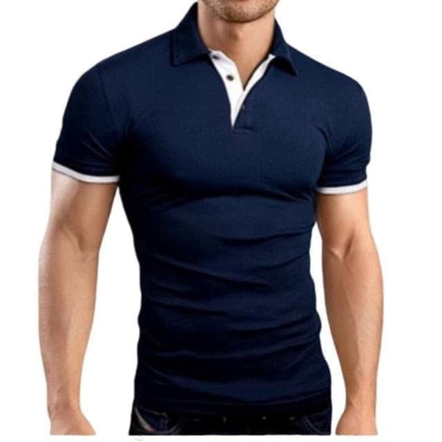 New Fashion Solid Men Polo Shirt Lapel Collar Slim Fit Tops Casual Classic Male Polos Shirts S-5XL
