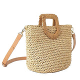 New Popular Women'S Straw Bag Paper Shoulders Hand-Woven Bag Quality Art And Hobby Card Holiday Woven Bag Beach Bag