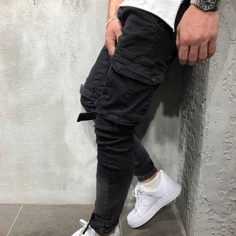 Men Fashion Casual Harem Pant High Street Hip Hop Male Big Pocket
