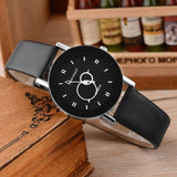 Relojes Mujer New Fashion Creative Clock Simple White Leather Watche