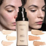 Face Foundation Make Up Base Liquid Long-lasting Brighten Facial Matte Mineral Whitening Makeup Moisturizer Foundation Cream