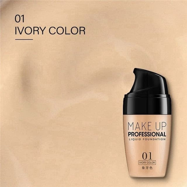 30ML Face Foundation Cream Waterproof Long-lasting Concealer Liquid Professional Makeup Full Coverage Matte Base Make Up