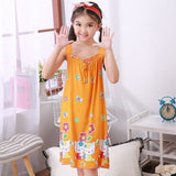 New Sleepwear Shirt Summer Dresses Girls Pajamas Cute Sling