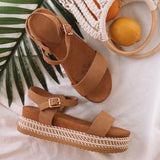 Women Sandals 2019 New Platform Sandals With 4CM Wedges Chaussures Femme Plus Size 43 Casual Summer Shoes Women Heels Sandals