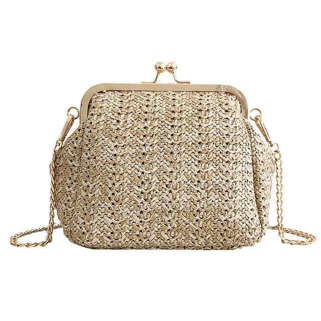 Woman Bag 2019 Fashion Summer Beach Wild Chain Messenger Shoulder Solid Weaving women bag bolsa masculina sac femme borsa donna