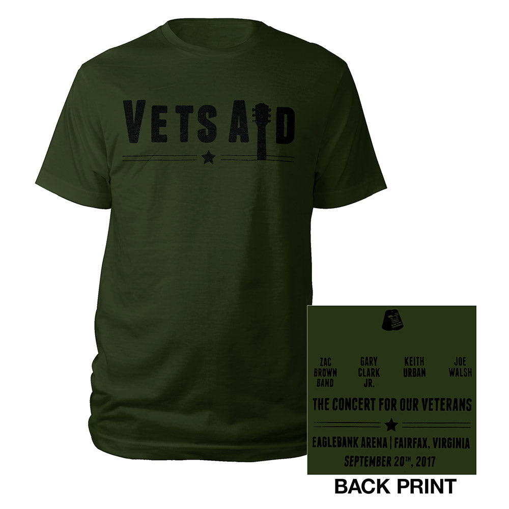 VetsAid 2017 Green Tee