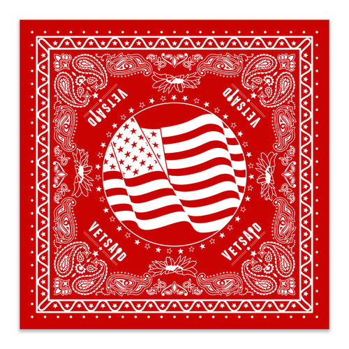 VetsAid 2019 Red Bandana