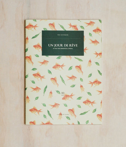 ICONIC DESIGN GOLD FISH NOTEBOOK (L)