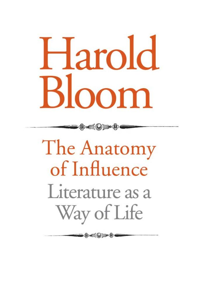 The Anatomy of Influence  by Harold Bloom - 9780300167603