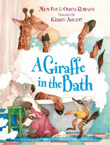 A Giraffe in the Bath  -