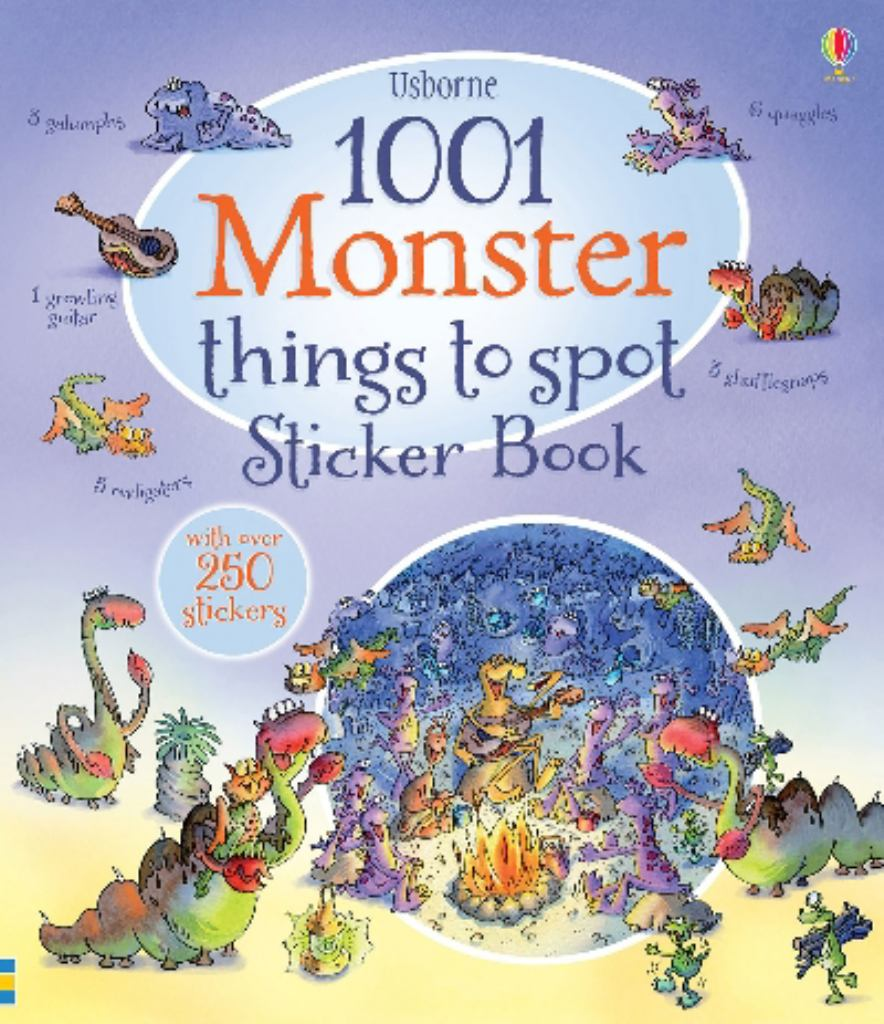 1001 Monster Things to Spot Sticker Book  -