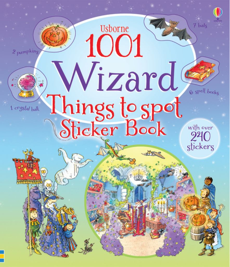 1001 Wizard Things to Spot Sticker Book  by Gill Doherty - 9781409583400