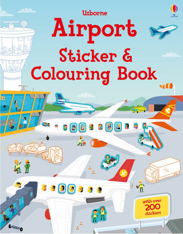 Airport Sticker and Colouring Book  -