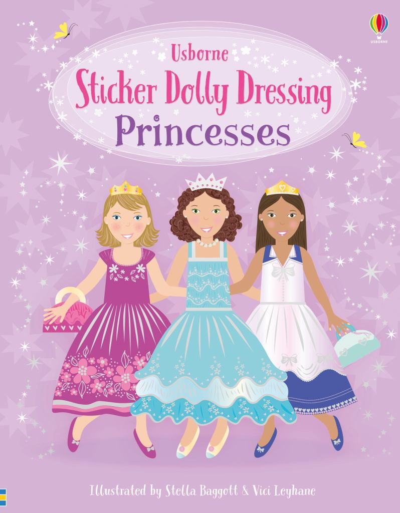 Sticker Dolly Dressing Princesses  by Fiona Watt - 9781474973380