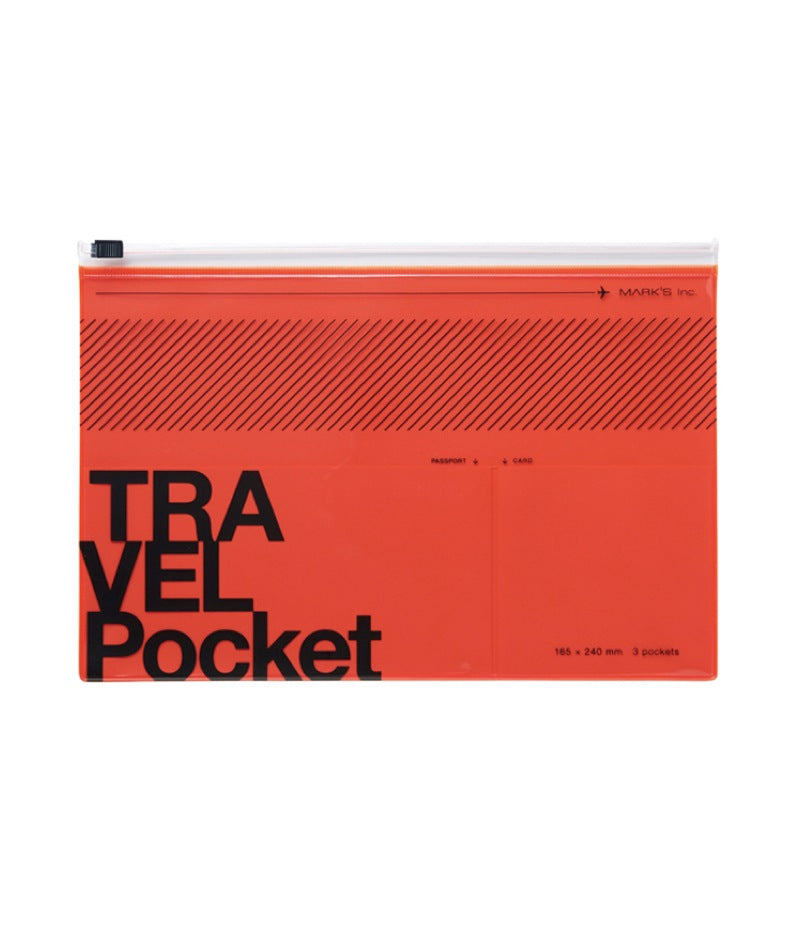RED TRAVEL KIT CASE  -