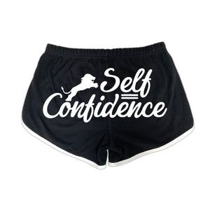 Dual Logo Self Confidence Booty Shorts