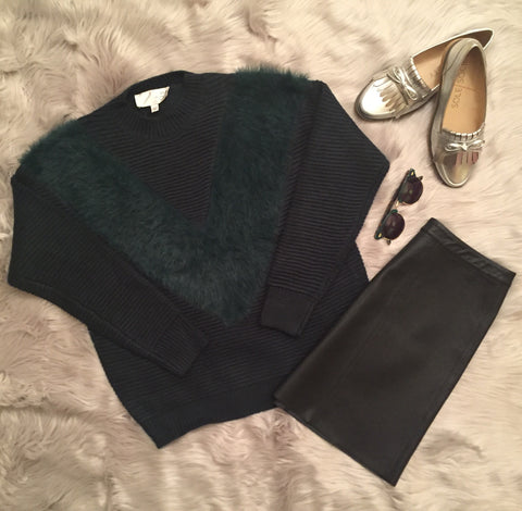 Emerald Sweater by JOA at Though Process Boutique