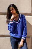 Prep Sweater Blue - Thought Process Boutique