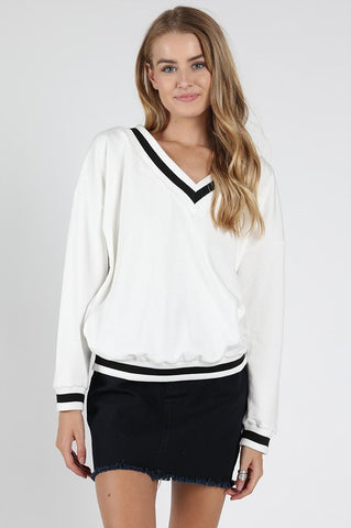 Prep Sweater White - Thought Process Boutique