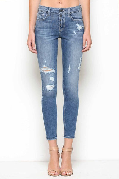 Hidden Jeans Mid-Rise Distressed Skinny Jeans - Thought Process Boutique