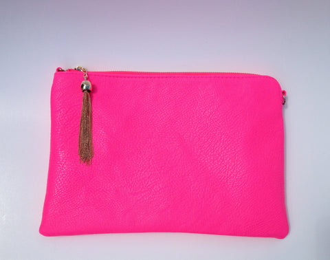Oversized Faux Leather Clutch - Thought Process Boutique