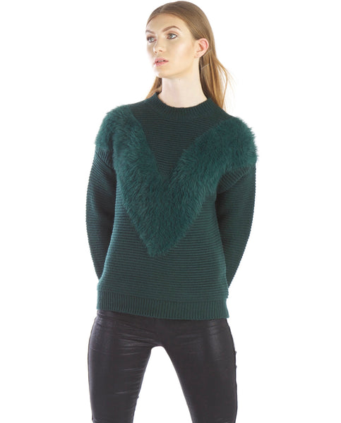 Emerald Sweater by J.O.A. - Thought Process Boutique  - 1
