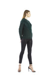 Emerald Sweater by J.O.A. - Thought Process Boutique  - 3