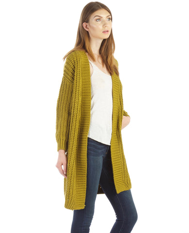 Lime  Cardigan by J.O.A. - Thought Process Boutique  - 1