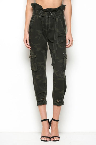 Hidden Jeans Paperbag Camo High-Rise Jeans - Thought Process Boutique