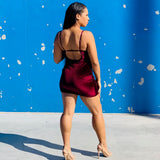 Merlot Vibes Mini Dress - Just Toya x Thought Process Boutique