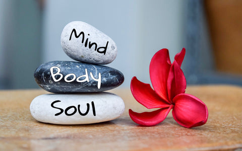 Mind, body, Soul - three stones balanced on top of each other | Eco Yoga Store