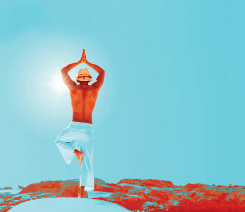 Practice Namaste - Yogi facing the sun | Eco Yoga Store