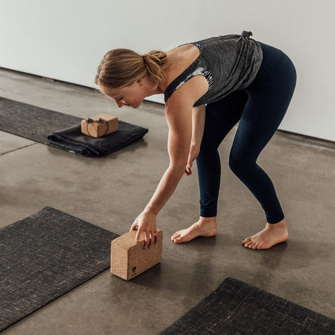Sarah Gunson preparing her yoga studio - Tribe | Eco Yoga Store