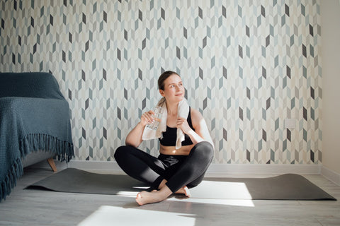 Yoga practice at home in your bedroom | Eco Yoga Store