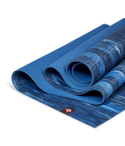 Manduka eKOLite 4mm Yoga Mat - Dark Sapphire Marbled - folded | Eco Yoga Store