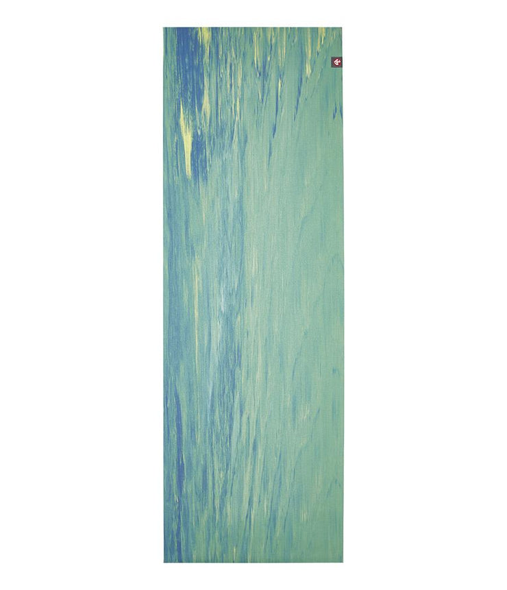 Manduka eKO Superlite 1.5mm Yoga Mat - Digi Lime Marbled - unfurled | Eco Yoga Store