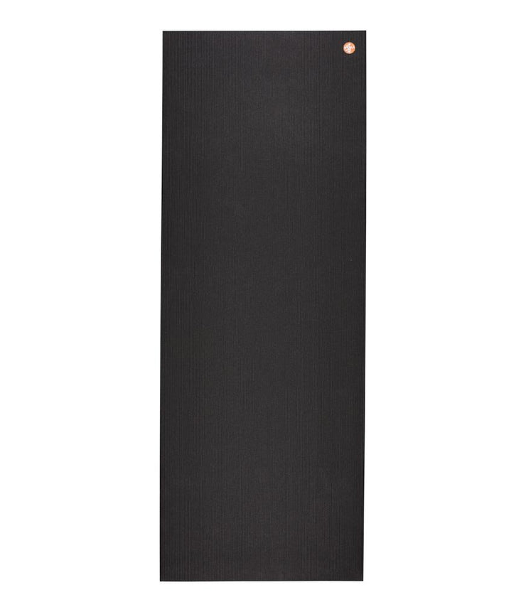 Manduka PRO 6mm Yoga Mat - Black - unfurled | Eco Yoga Store