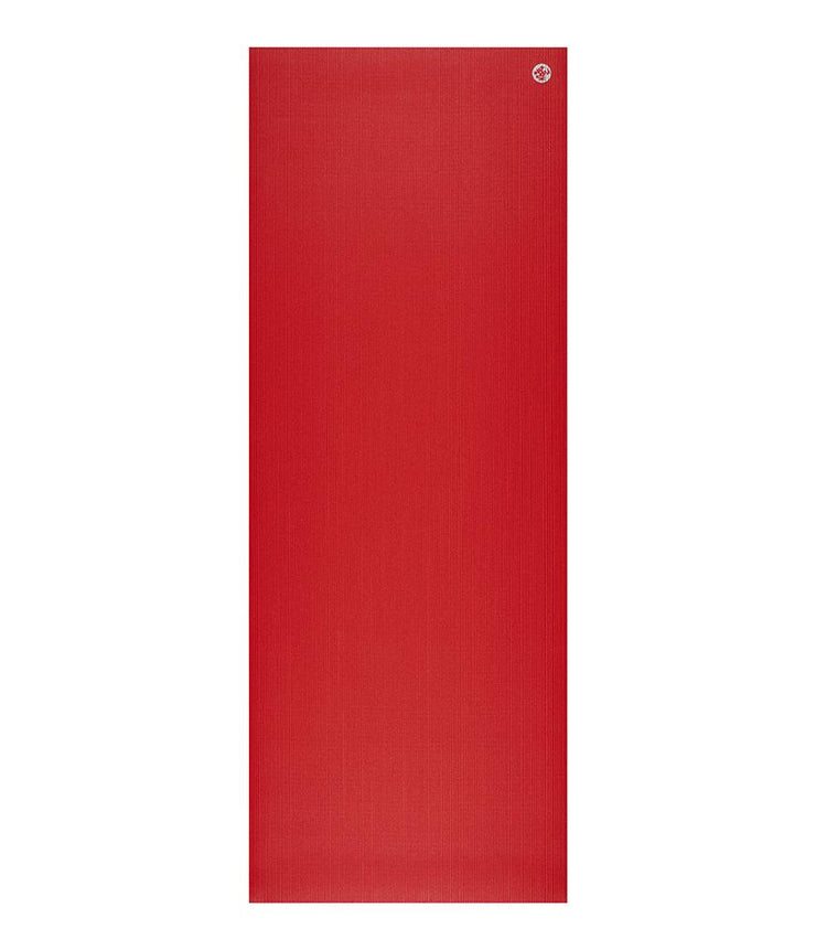 Manduka PRO 6mm Yoga Mat - Manduka Red - unfurled | Eco Yoga Store