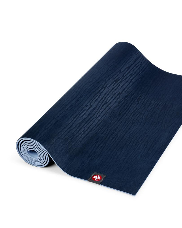 Manduka eKOLite 4mm Yoga Mat - Midnight - part rolled | Eco Yoga Store