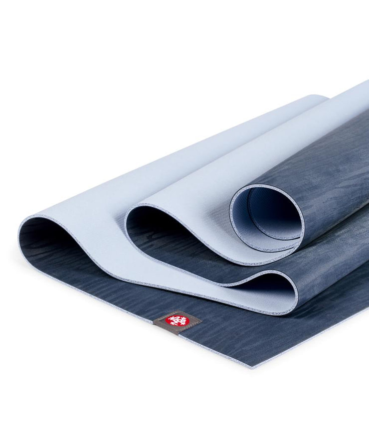 Manduka eKOLite 4mm Yoga Mat - Midnight - folded | Eco Yoga Store