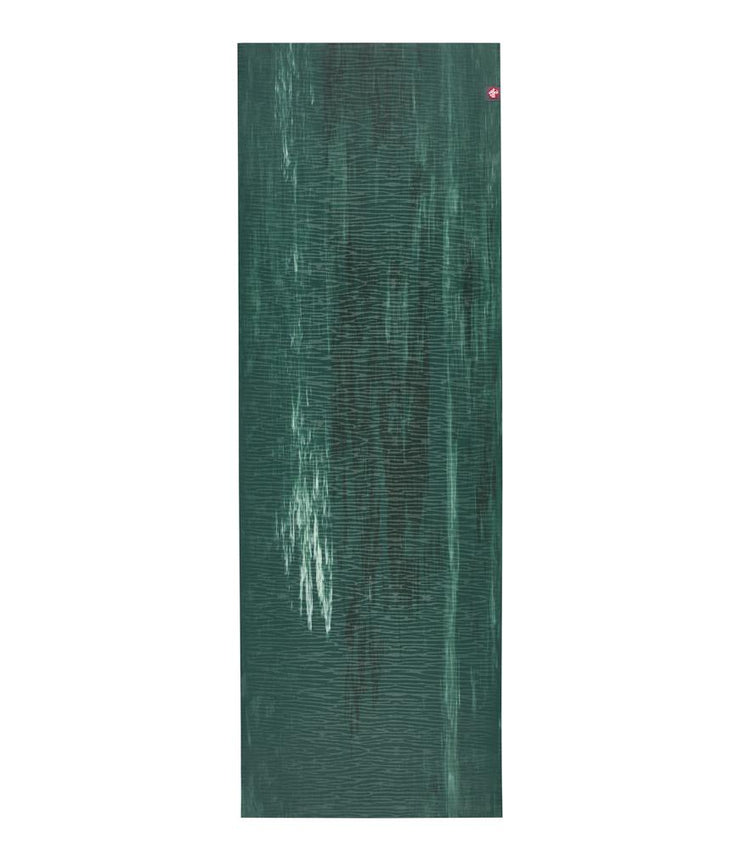Manduka eKOLite 4mm Yoga Mat - Deep Forest Marbled - unfurled | Eco Yoga Store