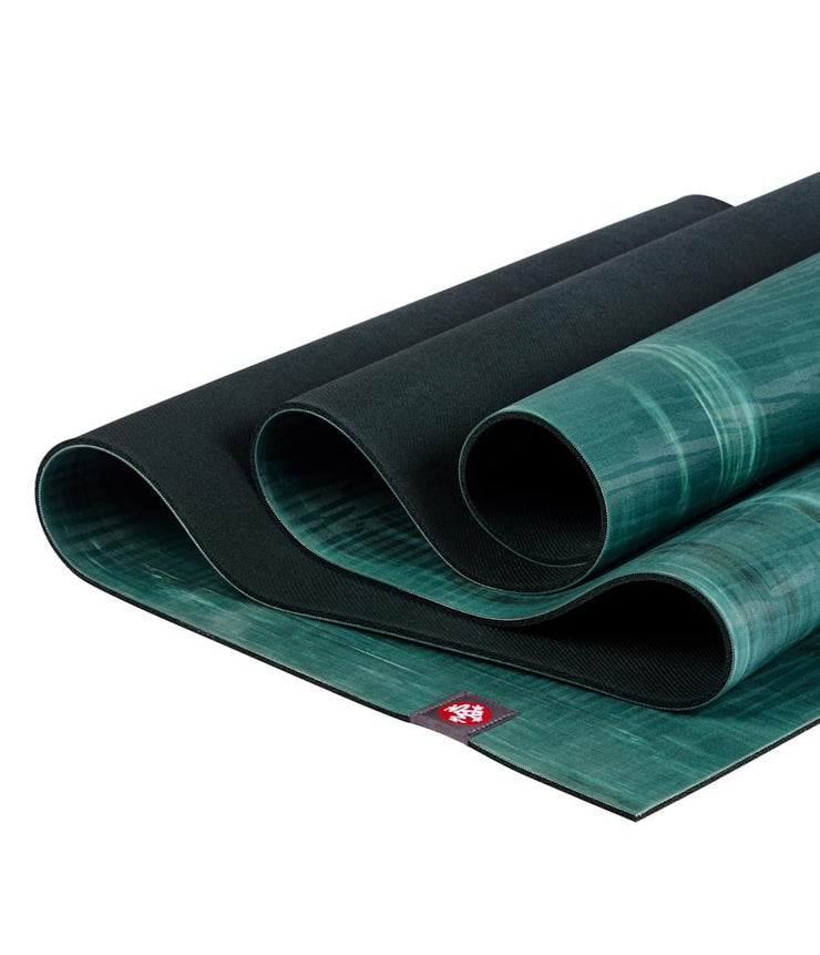 Manduka eKOLite 4mm Yoga Mat - Deep Forest Marbled - folded | Eco Yoga Store